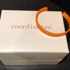 Orange New Jersey coordinates bracelet